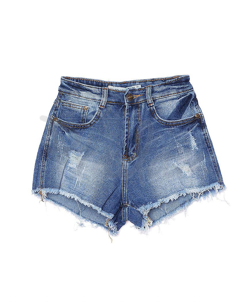A 0160 (A160) Relucky шорты джинсовые женские с царапками стрейчевые (25-30, 6 ед.)