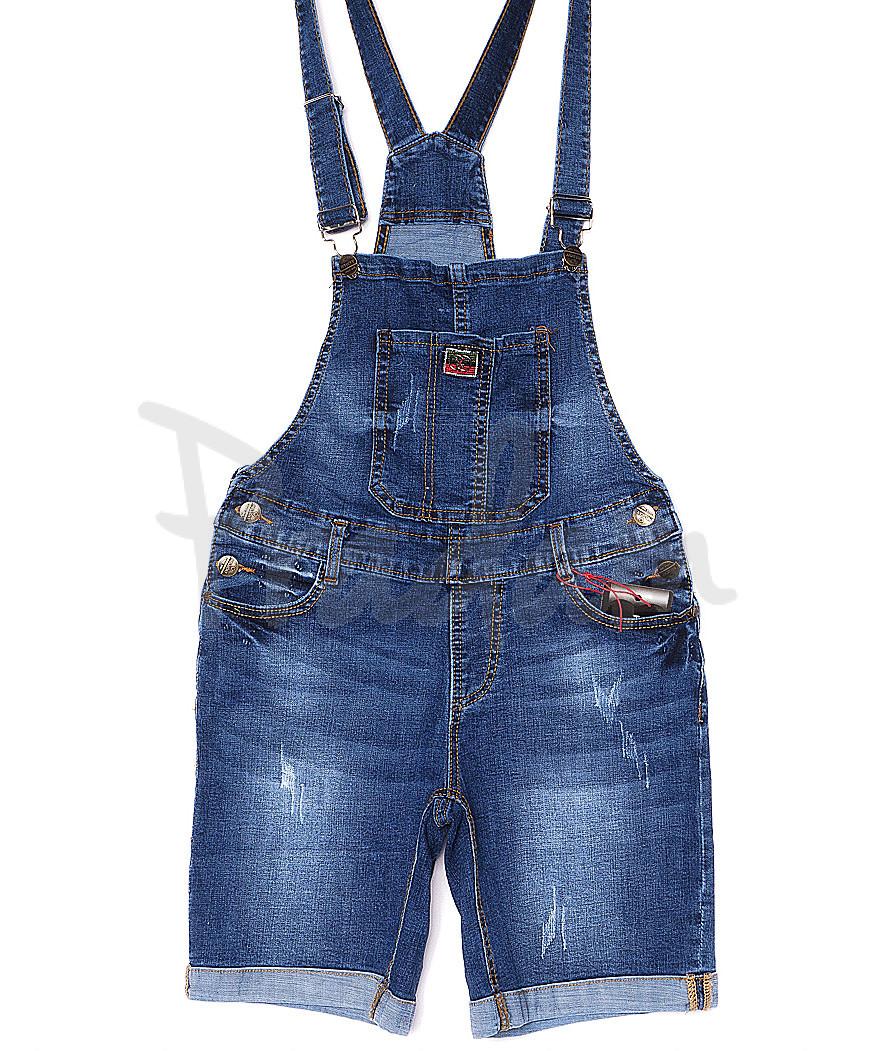A 0138-15 Relucky комбинезон-шорты джинсовый женский с  царапками стрейчевый (25-30, 6 ед.)