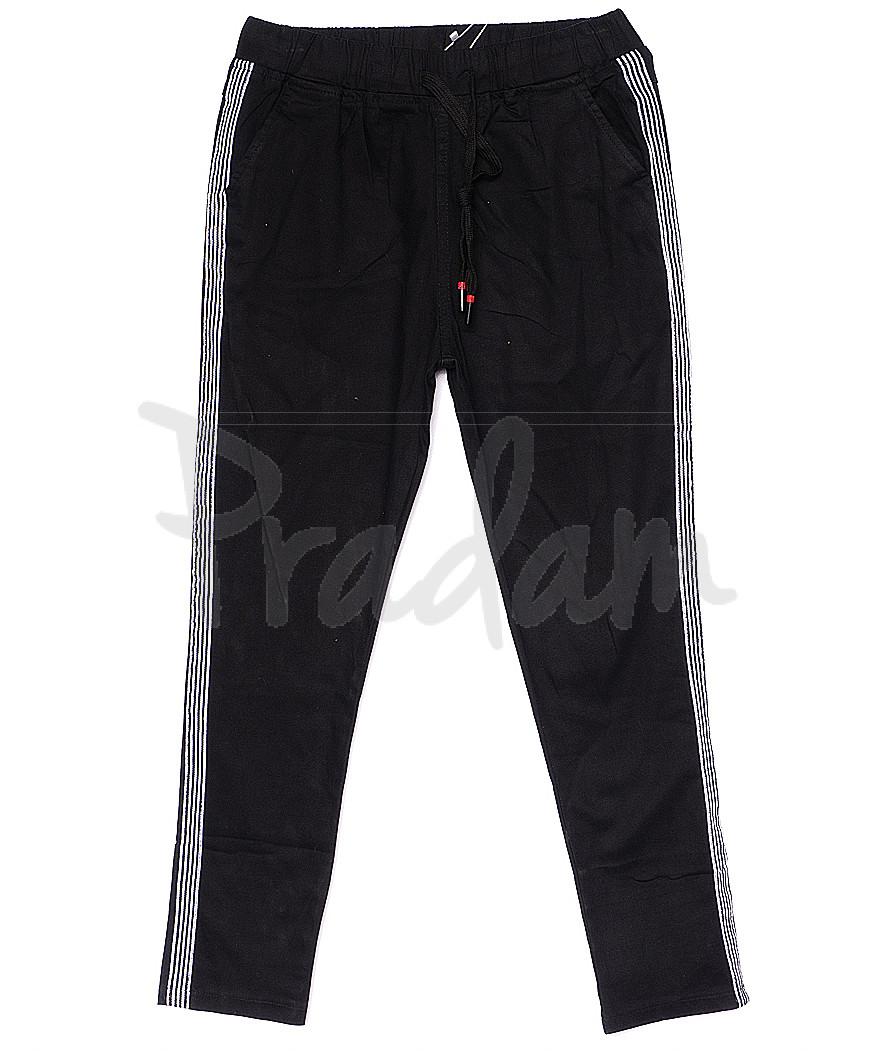 0208-1 Yimeite брюки женские черные летние стрейчевые (25-30, 6 ед.)