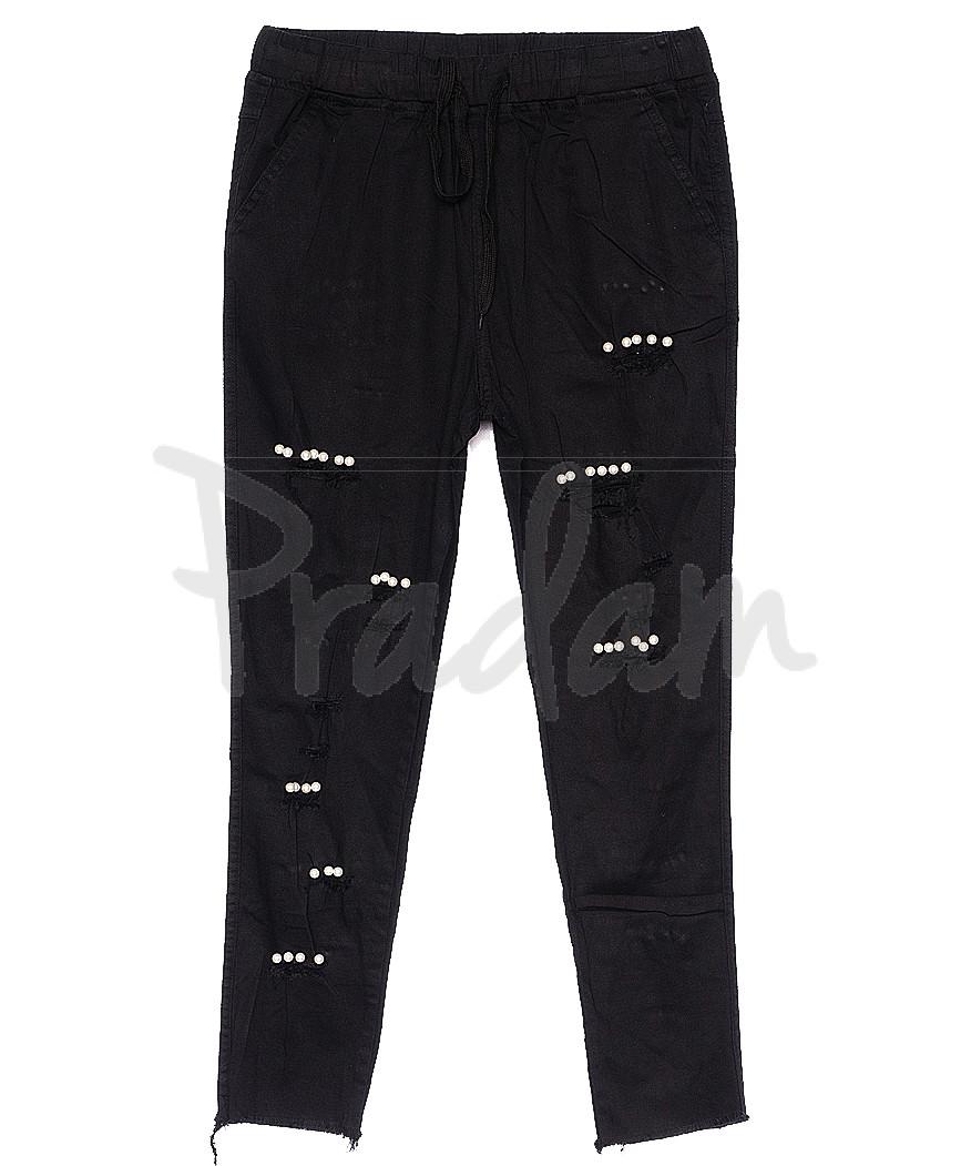 0210-1 Yimeite брюки женские черные летние стрейчевые (25-30, 6 ед.)