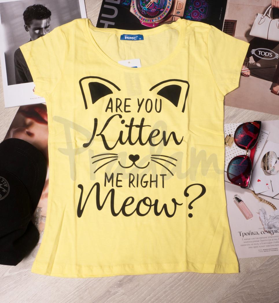 0001-1111 желтая MMC футболка женская котоновая (S-XL, 4 ед.)