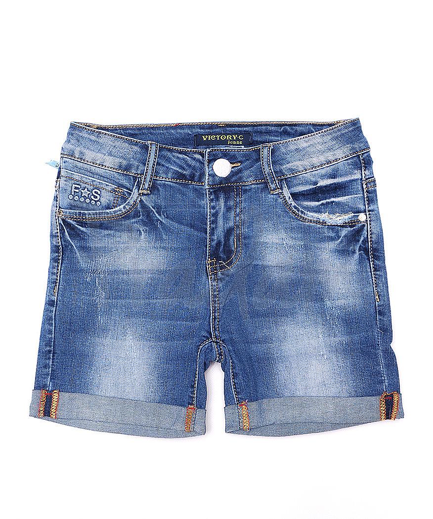 8210 Victory.C шорты джинсовые женские с царапками стрейчевые (25-30, 6 ед.)
