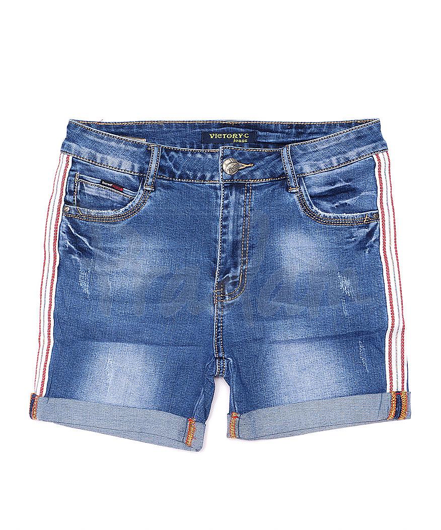 8208-2 Victory.C шорты джинсовые женские батальные с царапками стрейчевые (28-33, 6 ед.)