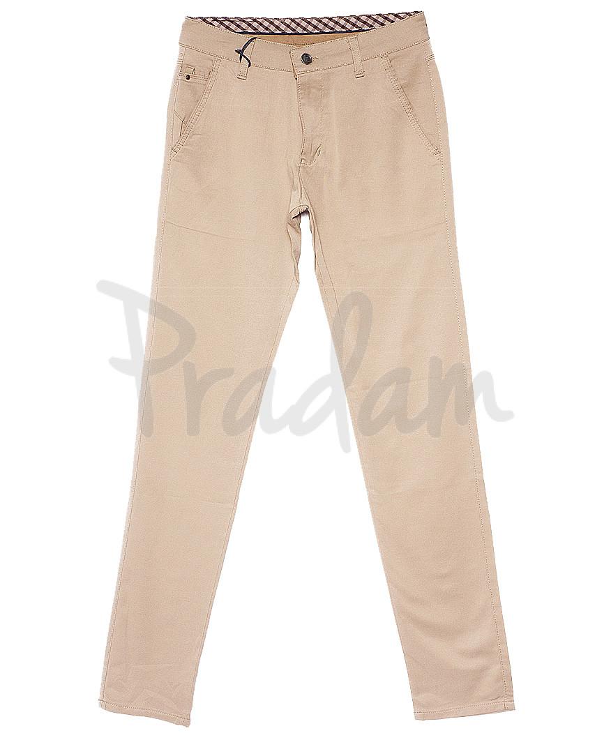 2239 vizion New Jarsin брюки мужские бежевые весенние стрейчевые (30-36, 7 ед.)