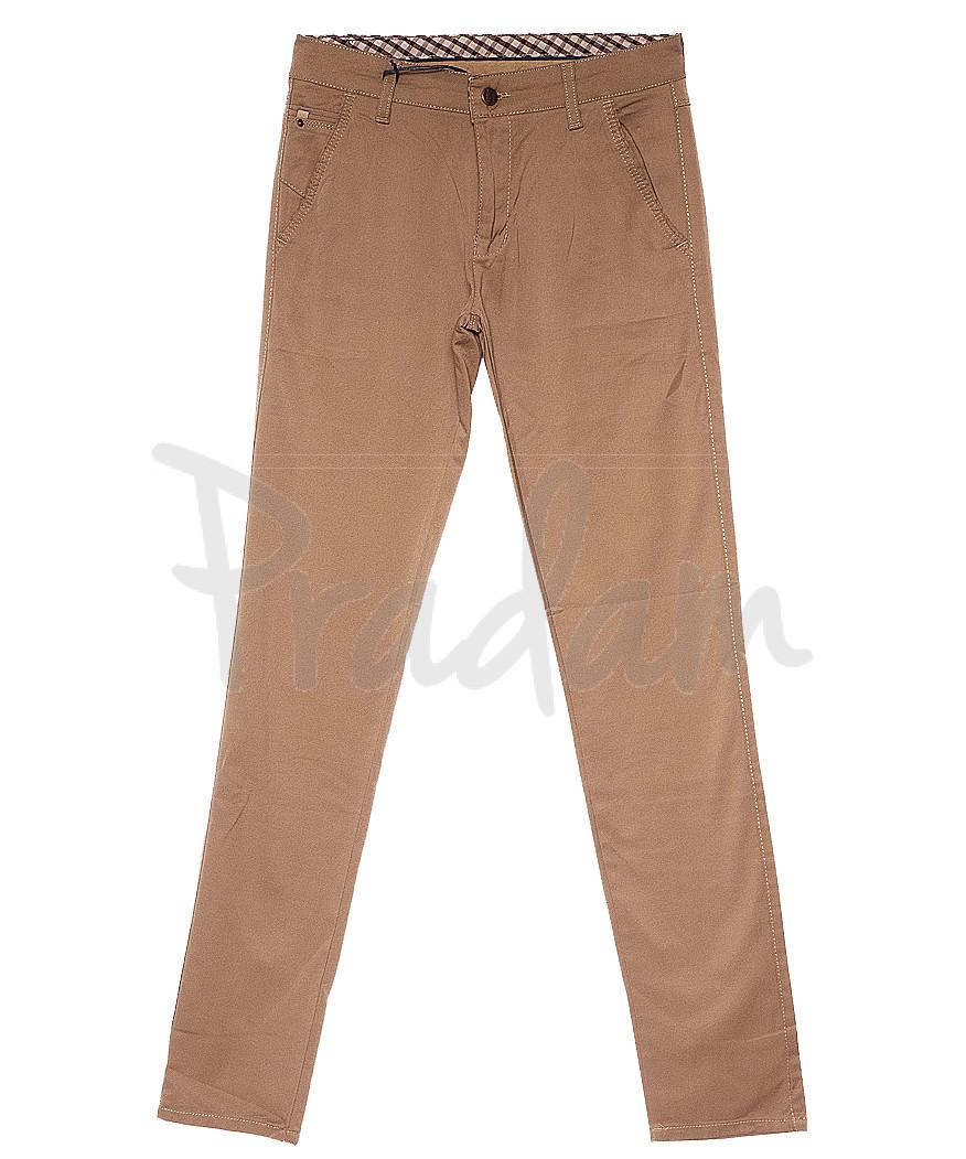 2239 Karol New Jarsin брюки мужские бежевые весенние стрейч-котон (30-36, 7 ед.)