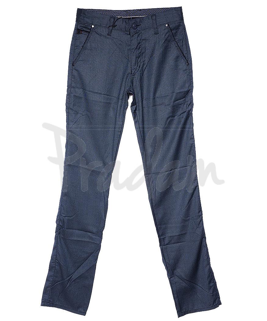 0828 petrol Big Rodoc брюки мужские синие весенние стрейч-котон (30-36, 7 ед.)