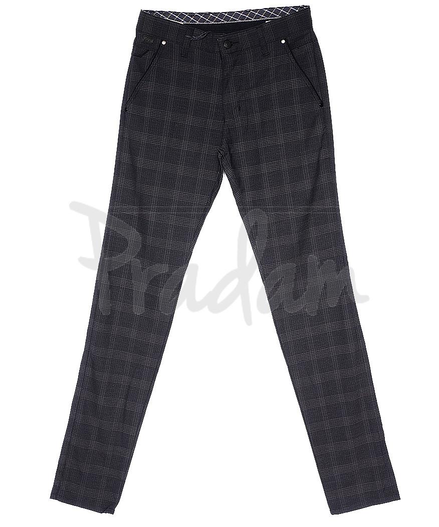 0063 gri L.C. kutu Big Rodoc брюки мужские серые в клетку весенние стрейч-котон (30-36, 7 ед.)