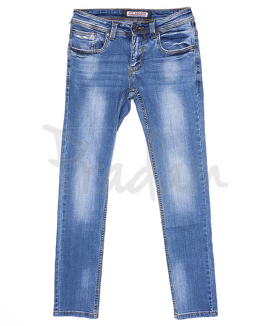 6305 Fit Adonis джинсы мужские молодежные с теркой летние стрейчевые (28-36, 8 ед.)
