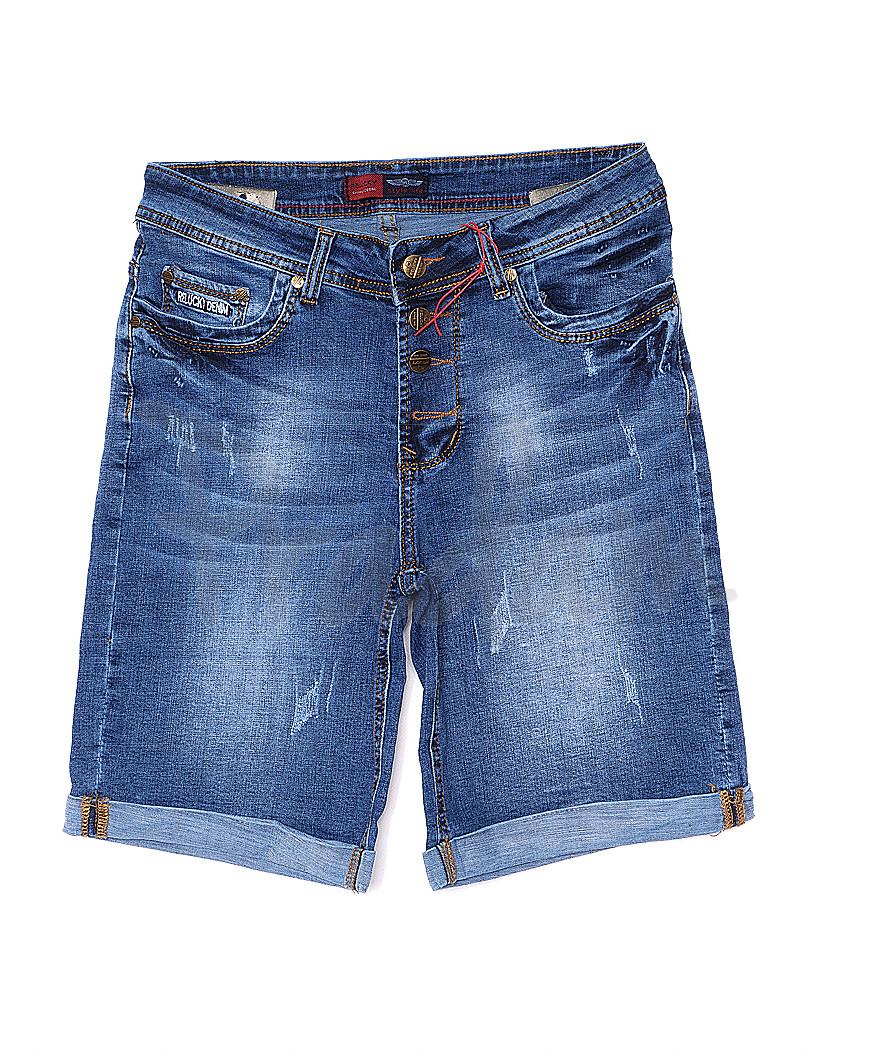 A 0147-15 Relucky шорты джинсовые женские батальные с царапками стрейчевые (28-33, 6 ед.)