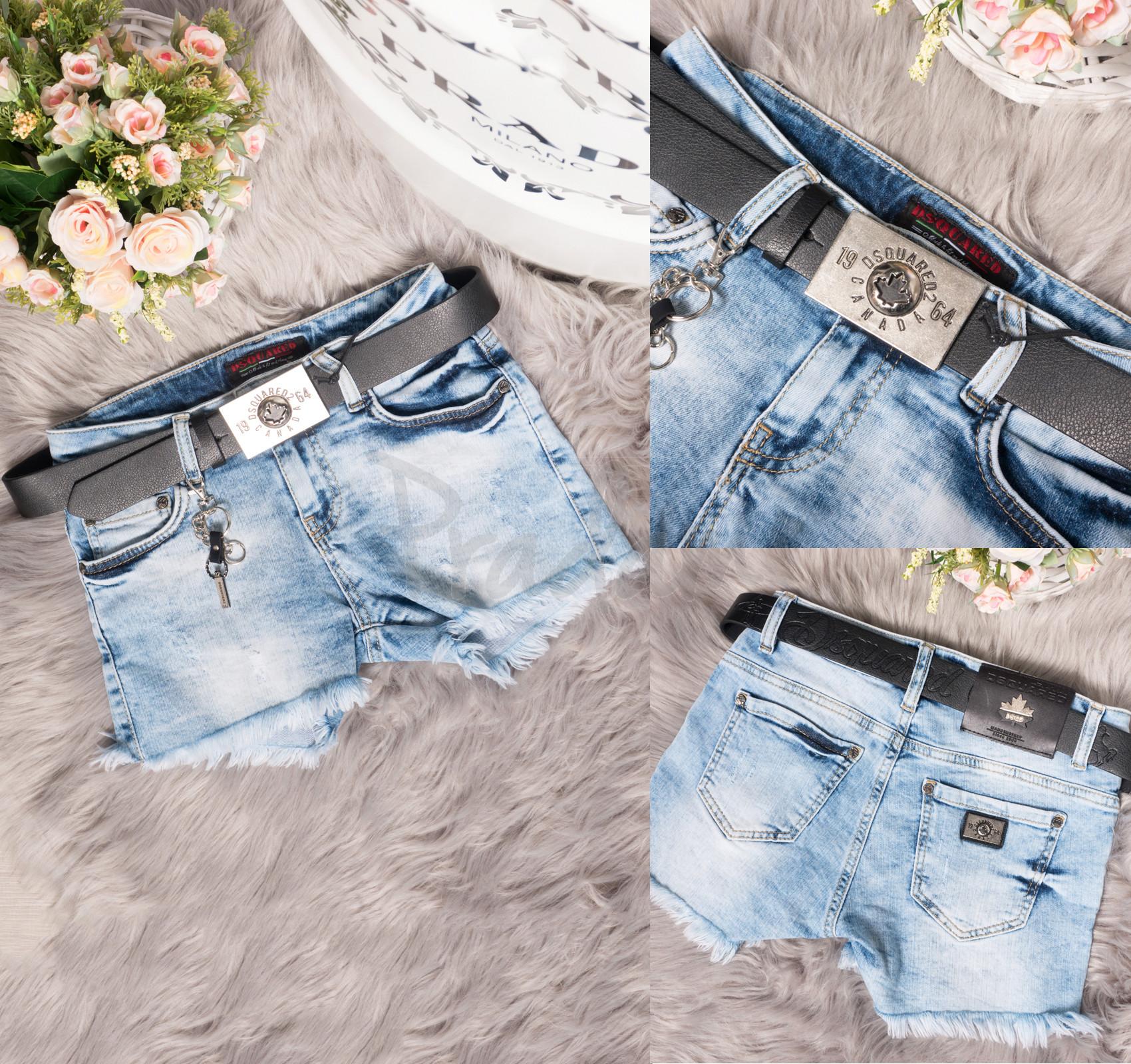 0770 Dsquared шорты джинсовые женские стрейчевые (26,28,29,30, 4 ед.)