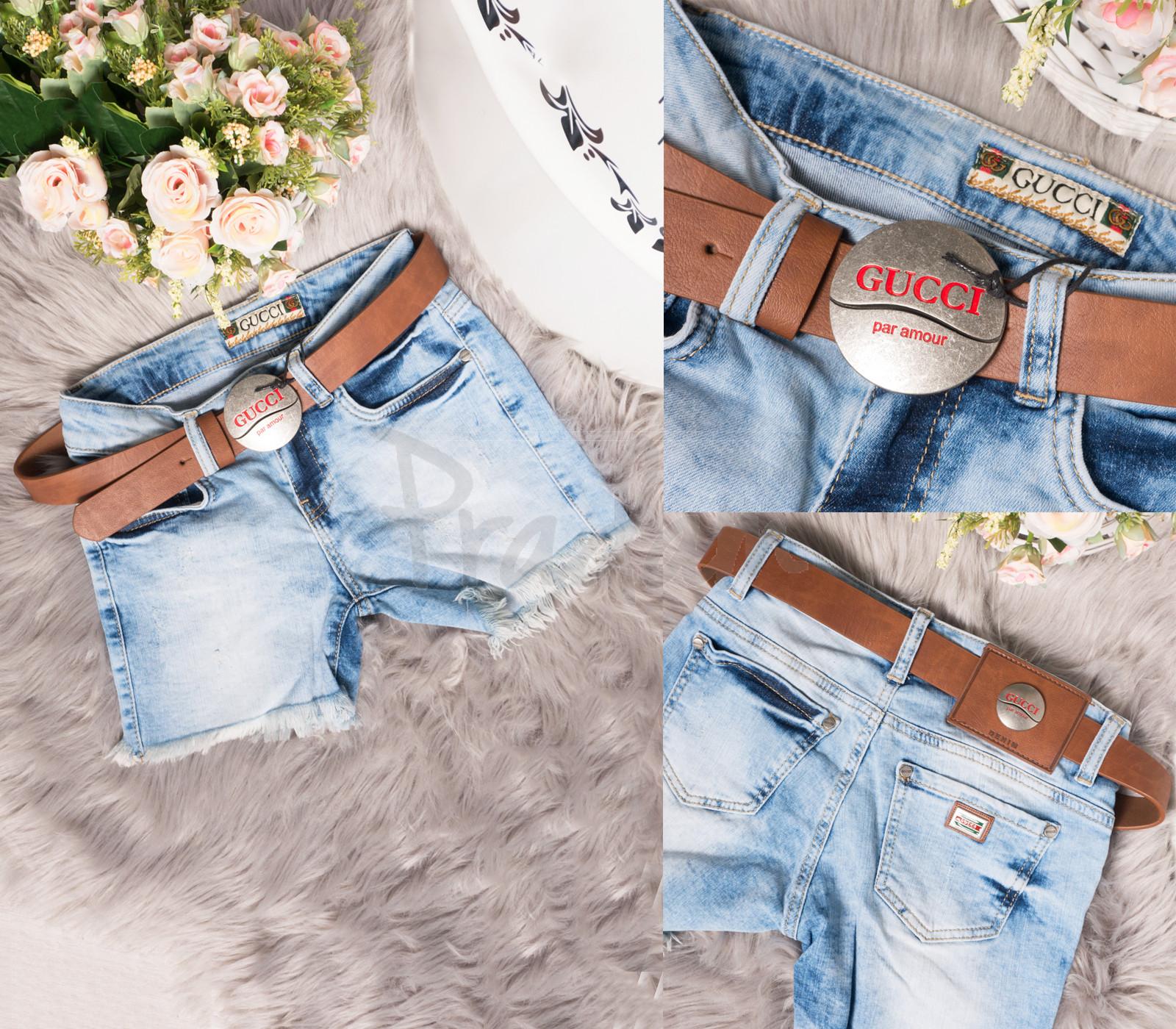 0767 Gucci шорты джинсовые женские стрейчевые (26-30, 5 ед.)