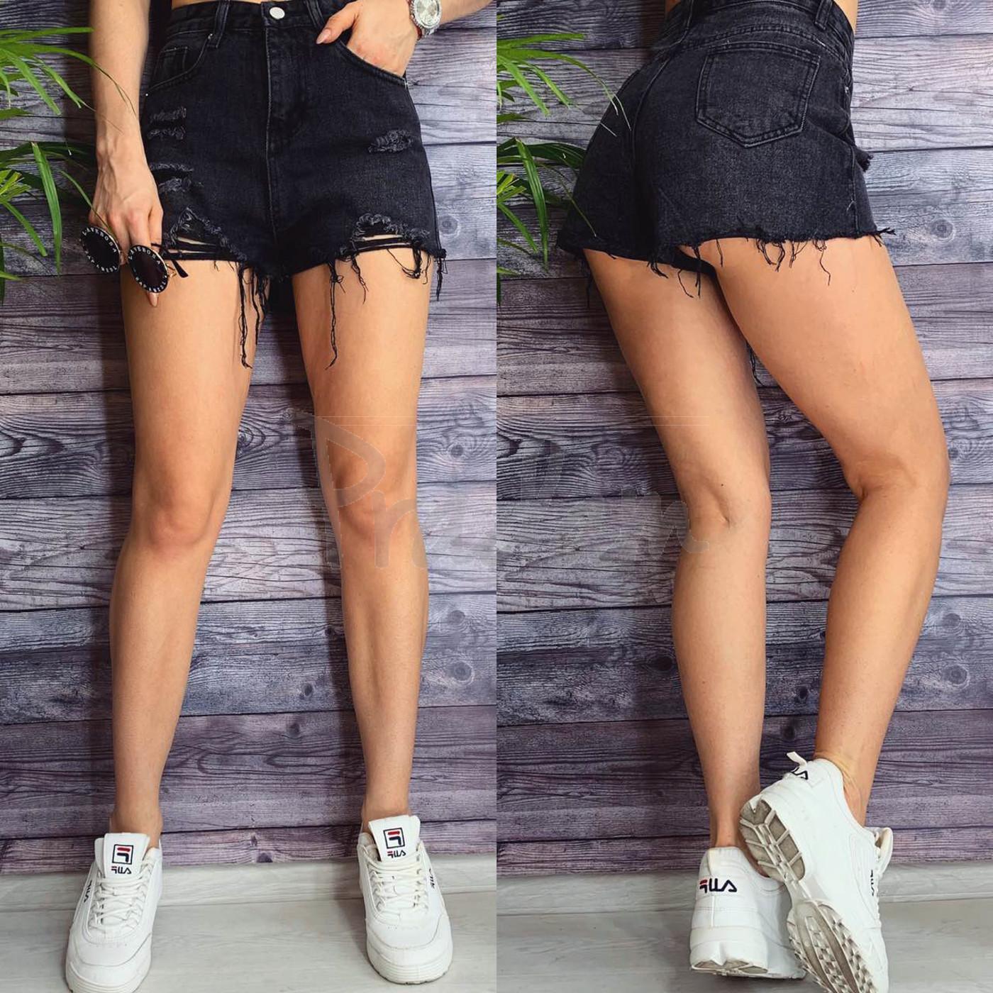 Шорты джинсовые женские с рванкой Bao.Er 3085