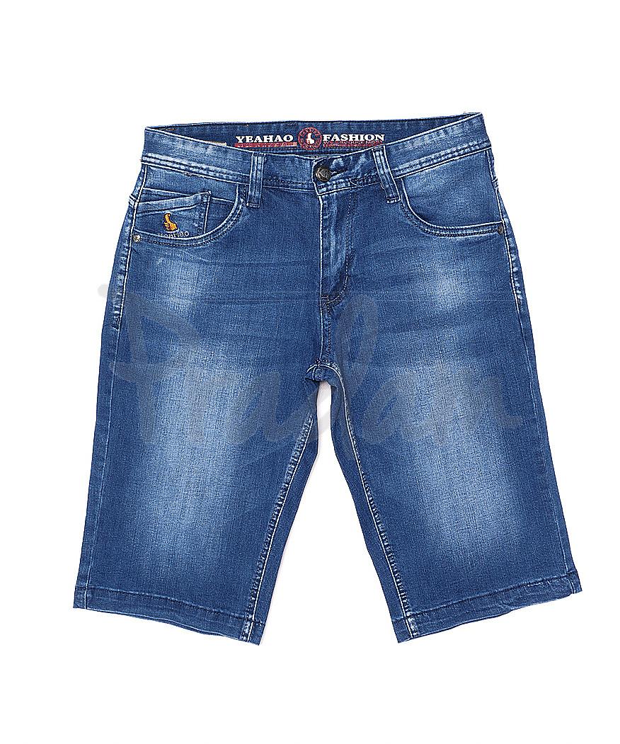 0007 (U-007) Yeahao шорты джинсовые мужские батальные стрейчевые (32-42, 8 ед.)