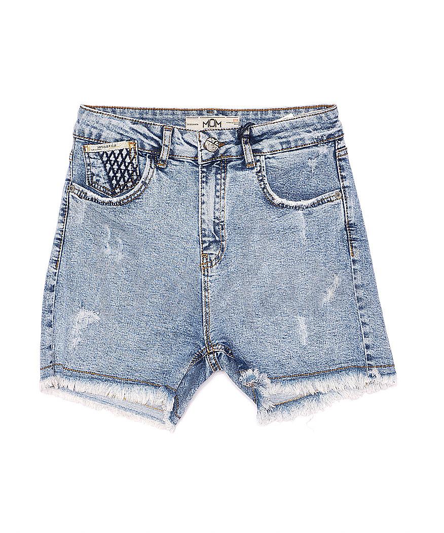 4956 Sessanta шорты джинсовые женские с царапками стрейчевые (25-30, 6 ед.)