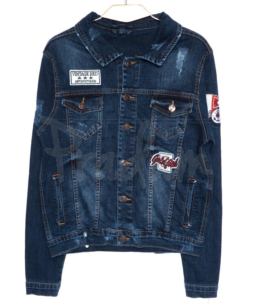 0084 Orjean куртка джинсовая мужская c  вышитым декором осенняя котоновая  (S-XL, 4 ед.)