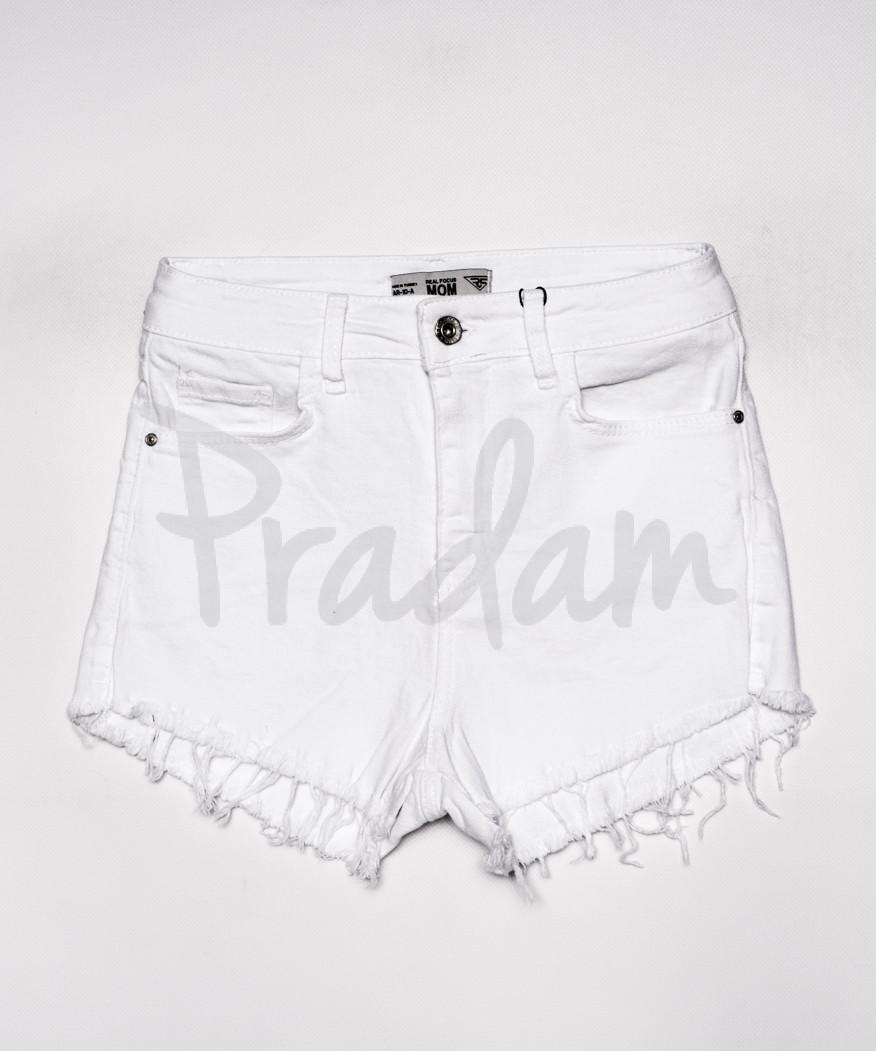 4001-10 Real Focus шорты женские белые с бахромой (26-30, 5 ед.)