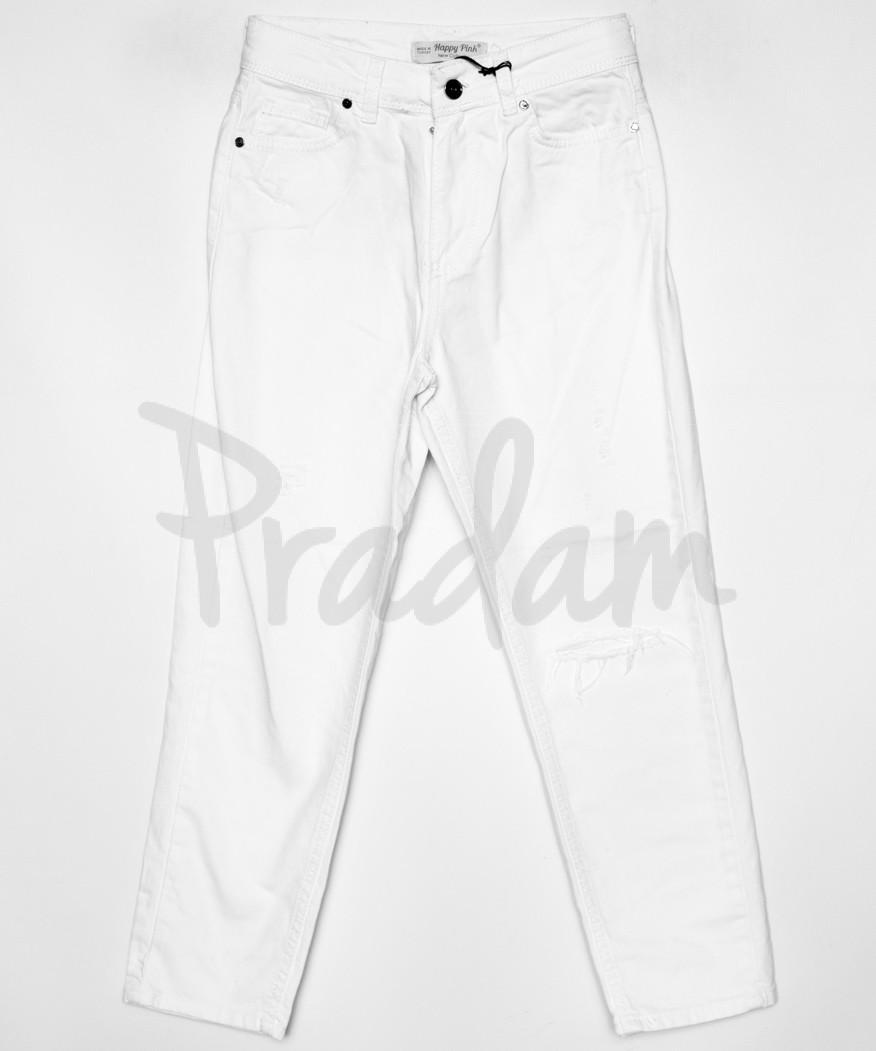 0813 Happy Pink джинсы мом белые коттон (34-44, евро норма, 8 ед.)