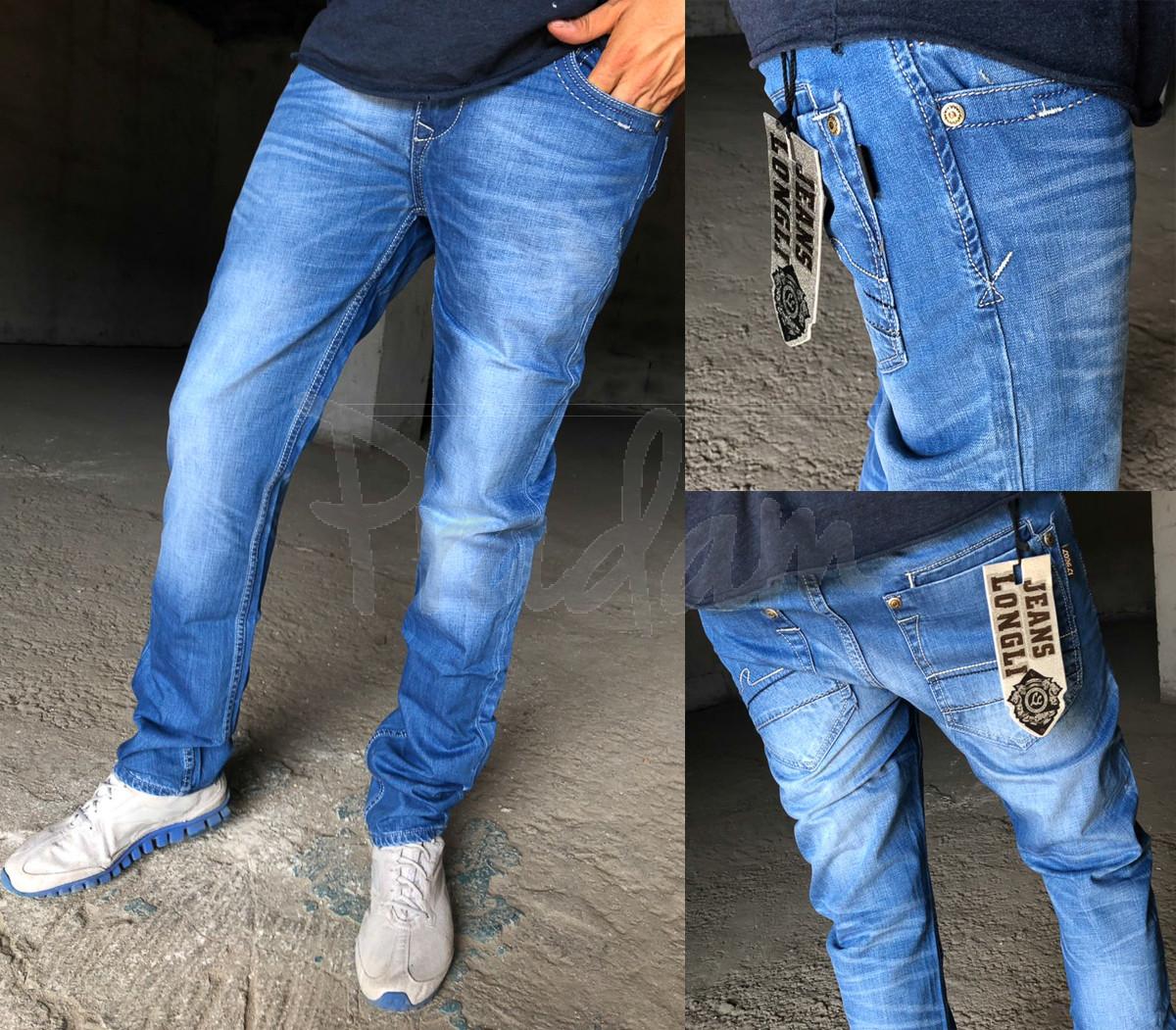 01f4cdc772b01 1120-47-54 Longli джинсы мужские молодежные весенние стрейчевые (28-36,