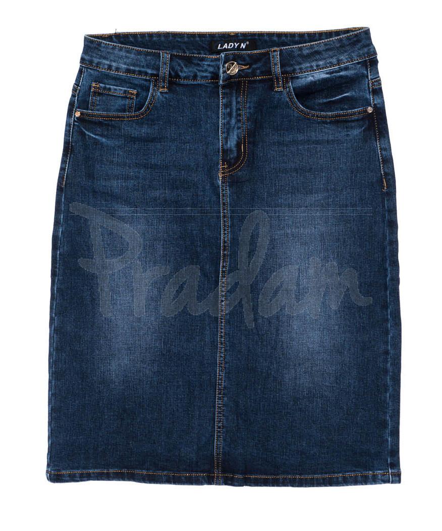 1350 Lady N юбка джинсовая батальная осенняя стрейчевая (32-42, 6 ед.)