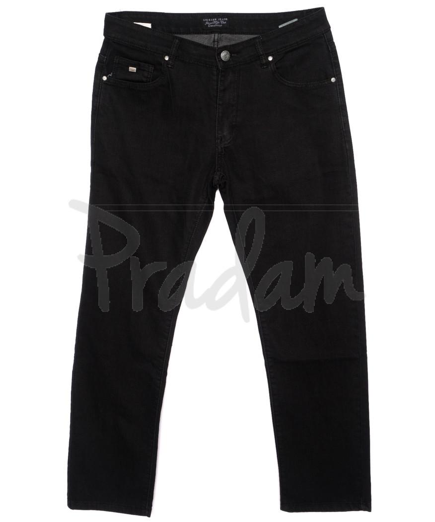0569-10 Likgass джинсы мужские батальные черные осенние стрейчевые (34-42, 8 ед.)