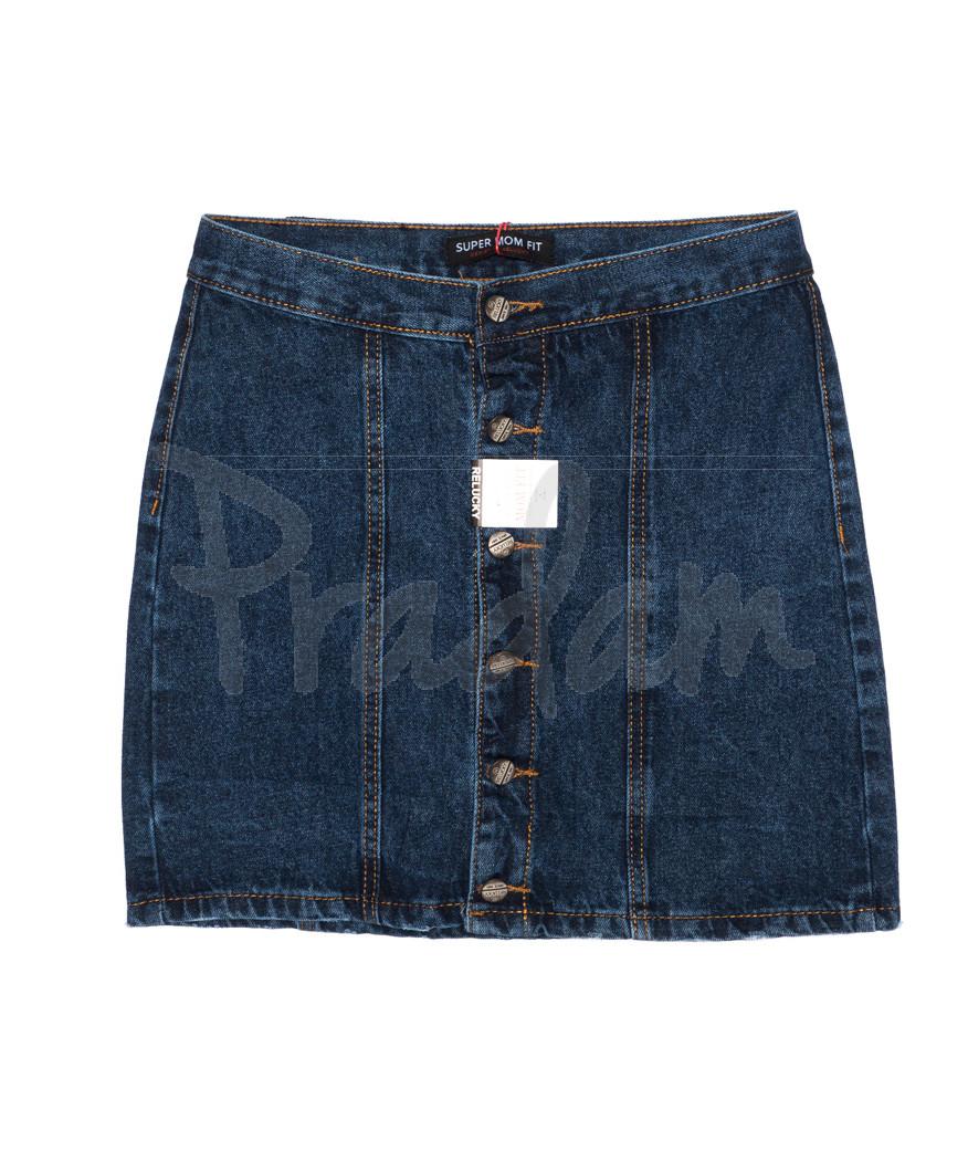 V 0403-1 Relucky юбка джинсовая на пуговицах осенняя котоновая (25-30, 6 ед.)