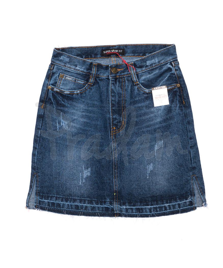 V 0400-1 Relucky юбка джинсовая с царапками осенняя котоновая (25-30, 6 ед.)
