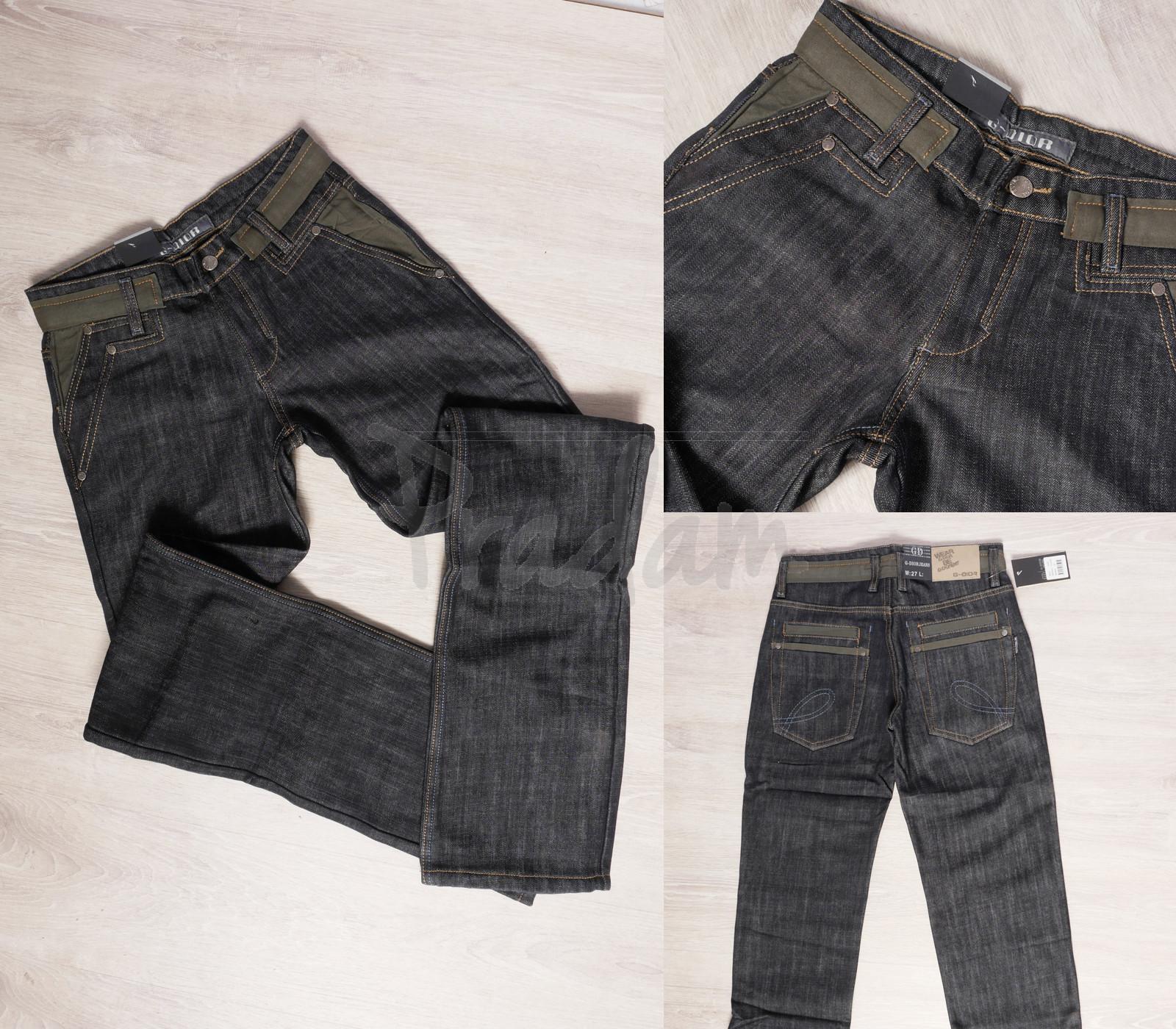 0203 G-Dior джинсы мужские молодежные на флисе зимние стрейчевые (27-30, 4 ед.)