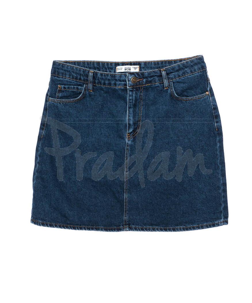 6010-01 Real Focus юбка джинсовая батальная женская синяя осенняя котоновая (30-34, 5 ед.)