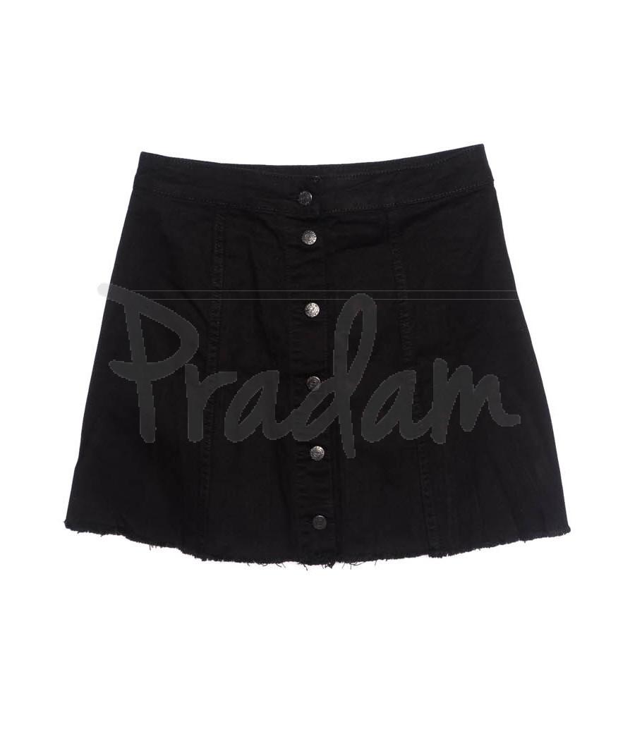 3039 Miele юбка черная батальная на пуговицах осенняя котоновая (42-50, евро, 5 ед.)