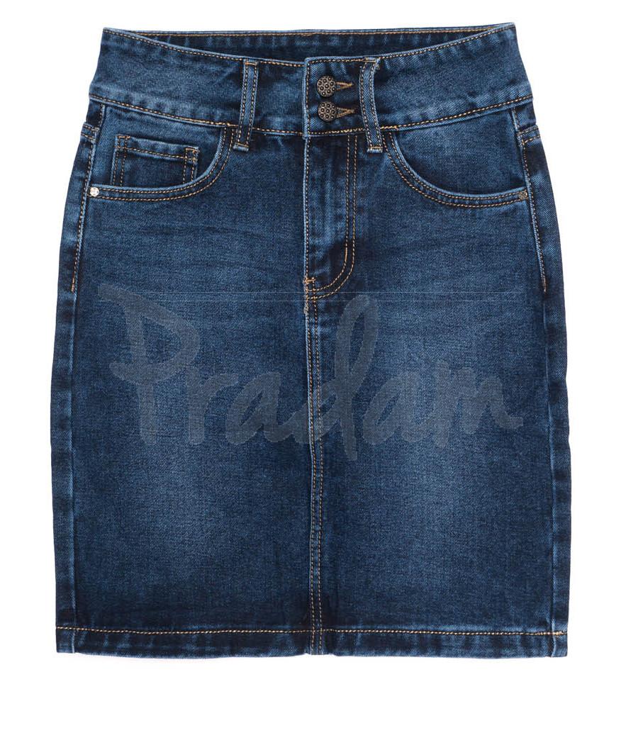 1393 Lady N юбка джинсовая синяя осенняя котоновая (25-30, 6 ед.)