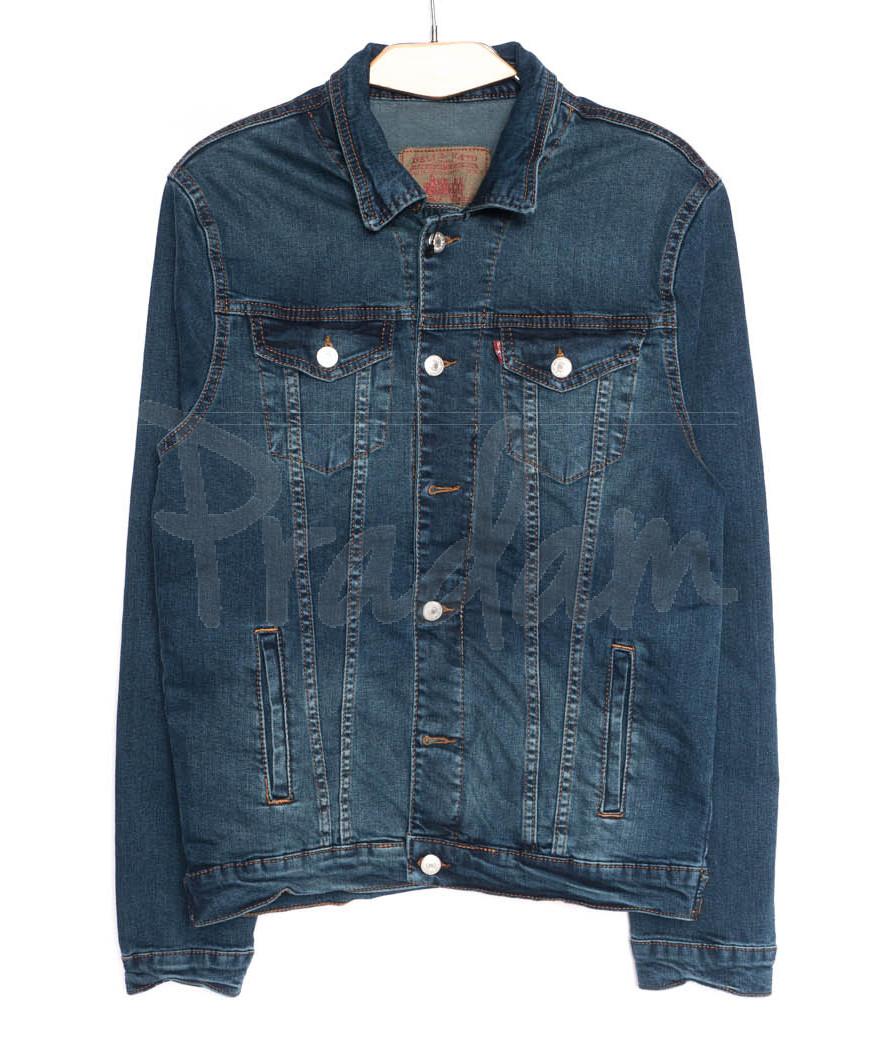 0004 Deli куртка джинсовая мужская синяя осенняя стрейчевые (XL-4XL,4 ед.)