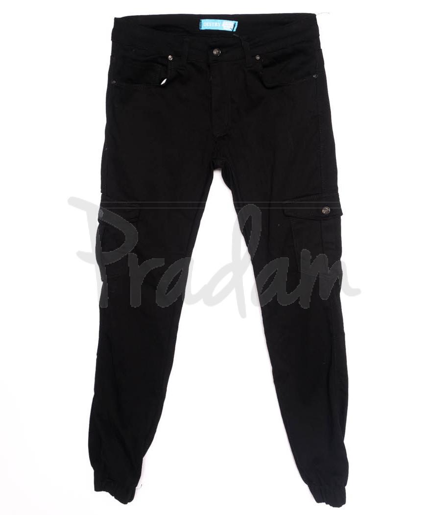 5946-черный Destry джинсы мужские на резинке черные осенние стрейчевые (29-36, 8 ед.)