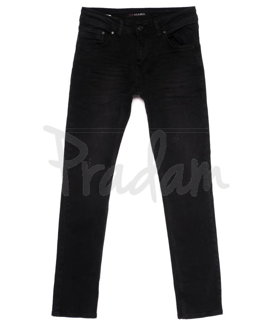 0038 (J38) Azarro джинсы мужские черные осенние стрейчевые (29-36, 8 ед.)