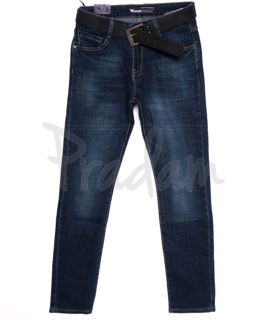 19025-2 Viman джинсы мужские синие осенние стрейчевые (30-40, 6 ед.)