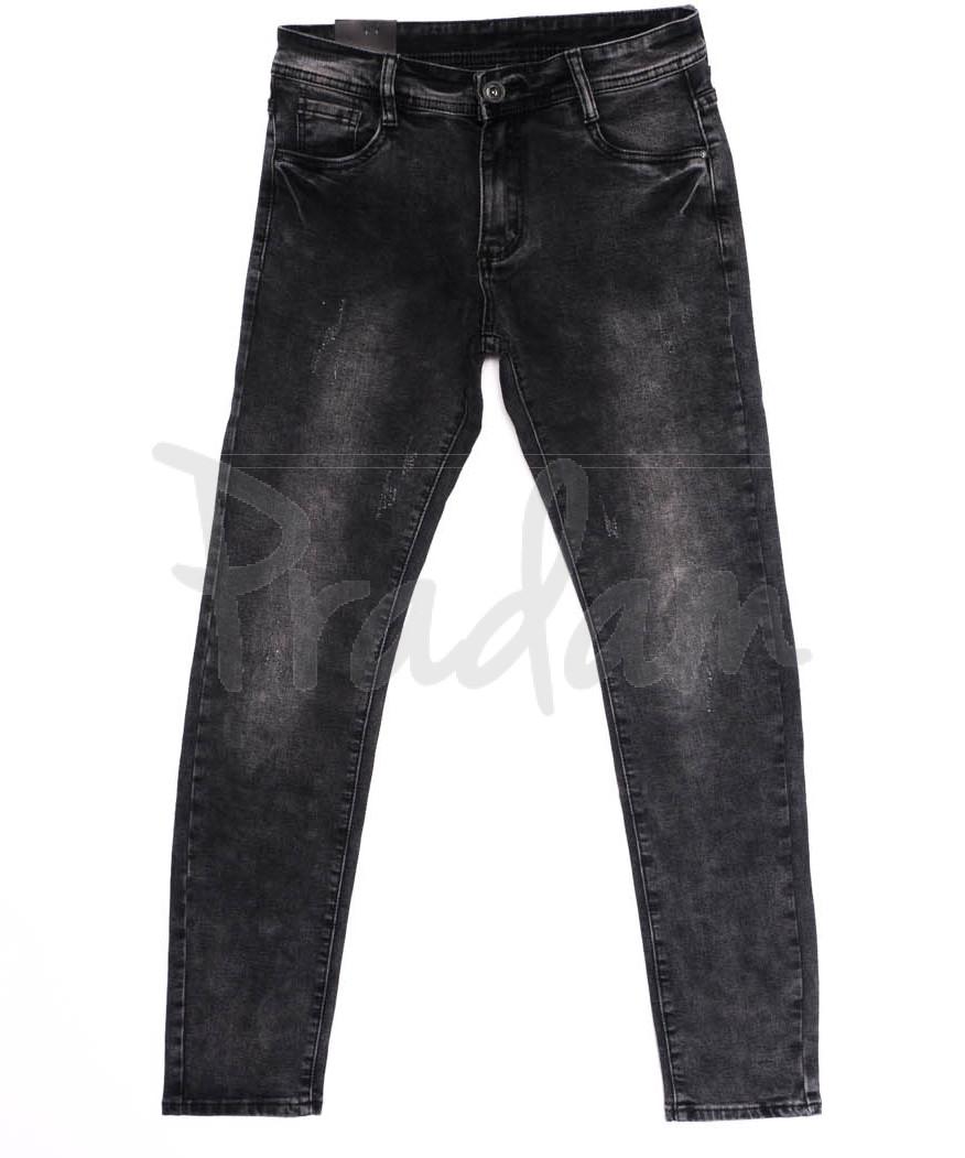 1920 Viman джинсы мужские с царапками серые осенние стрейчевые (29-36, 6 ед.)