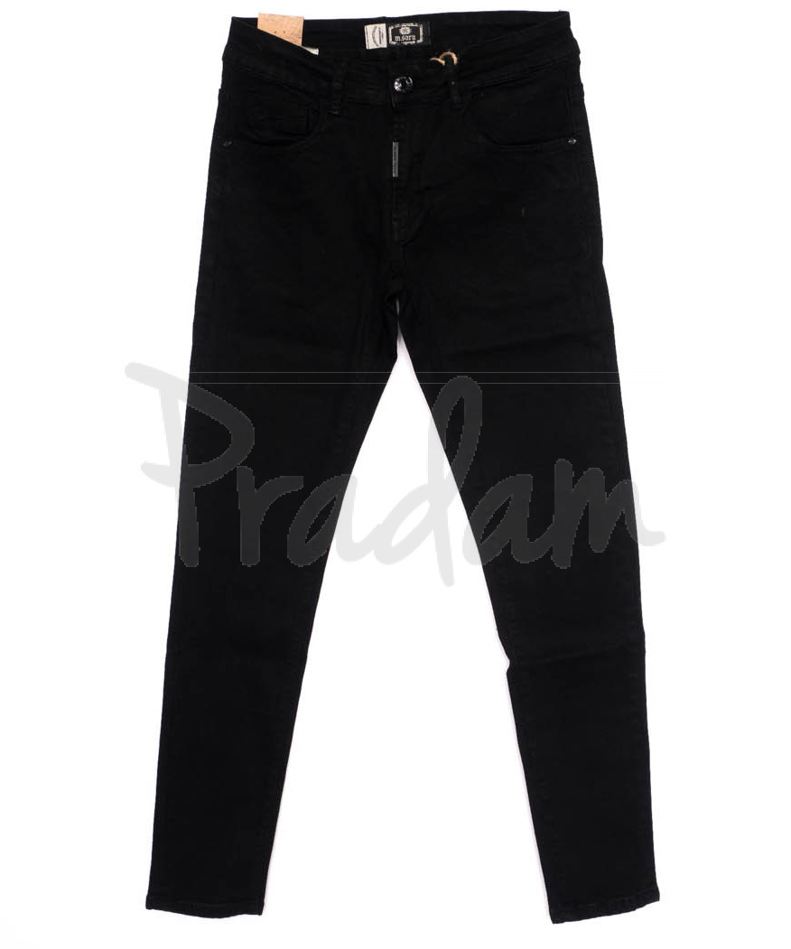 0182 M.Sara джинсы мужские черные осенние стрейчевые (29-36, 6 ед.)