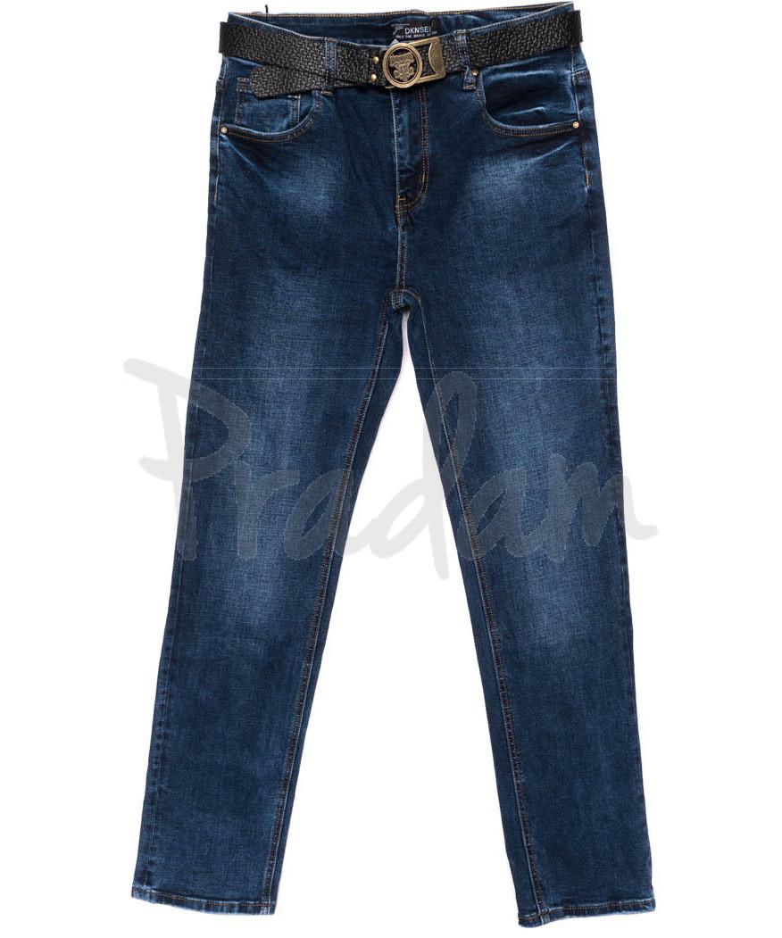 0109-D Dknsel джинсы женские батальные синие осенние стрейчевые (31-38, 6 ед.)