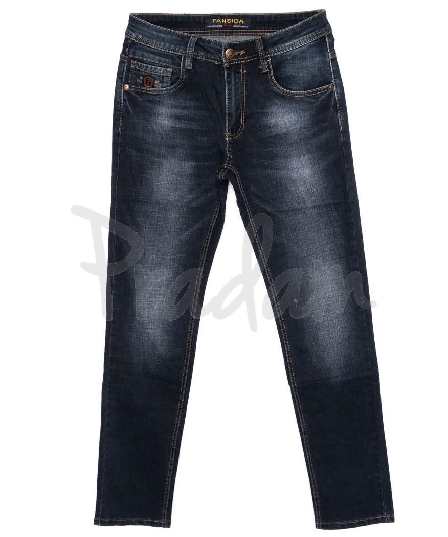 6112 Fansida джинсы мужские батальные синие осенние стрейчевые (32-38, 8 ед.)