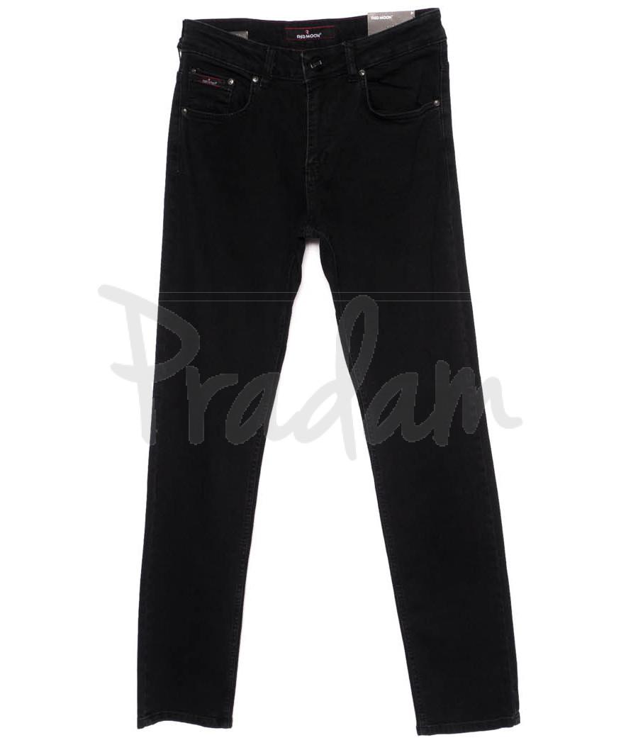 0247 Red Moon джинсы мужские черные осеннии стрейчевые (31-38, 6 ед.)
