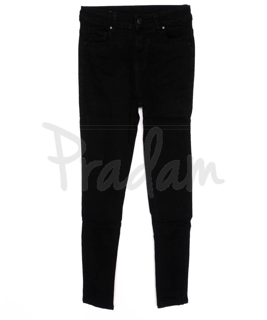 3372 New jeans американка черная осенняя стрейчевая (25-30, 6 ед.)