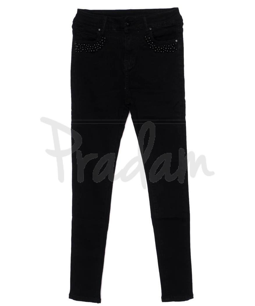 3355 New jeans американка черная осенняя стрейчевая (25-30, 6 ед.)