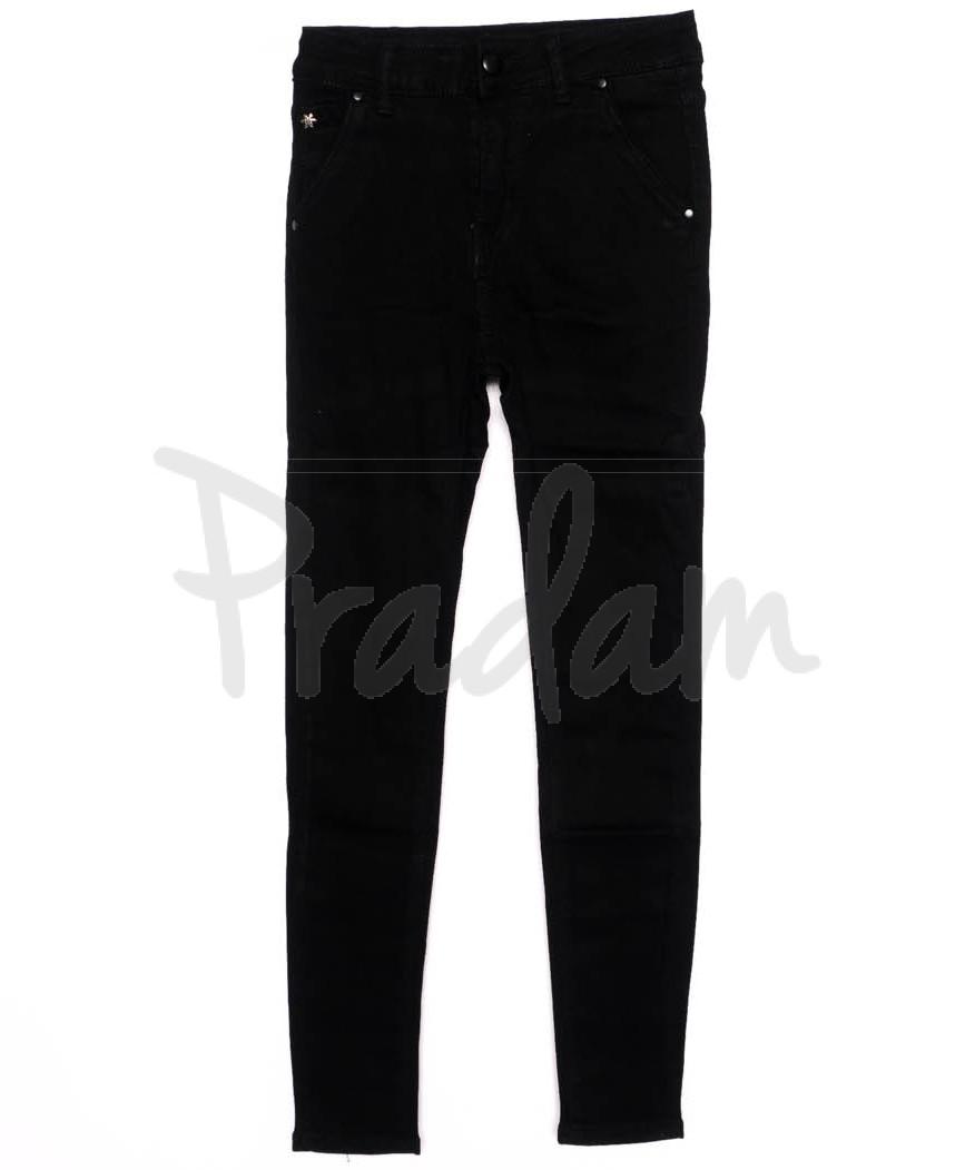 3395 New jeans американка черная осенняя стрейчевая (25-30, 6 ед.)