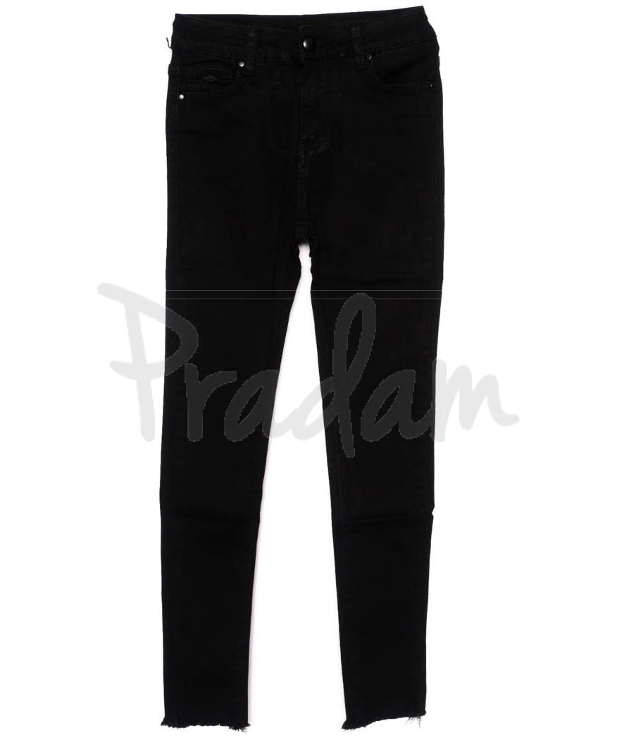 3396 New jeans американка черная осенняя стрейчевая (25-30, 6 ед.)
