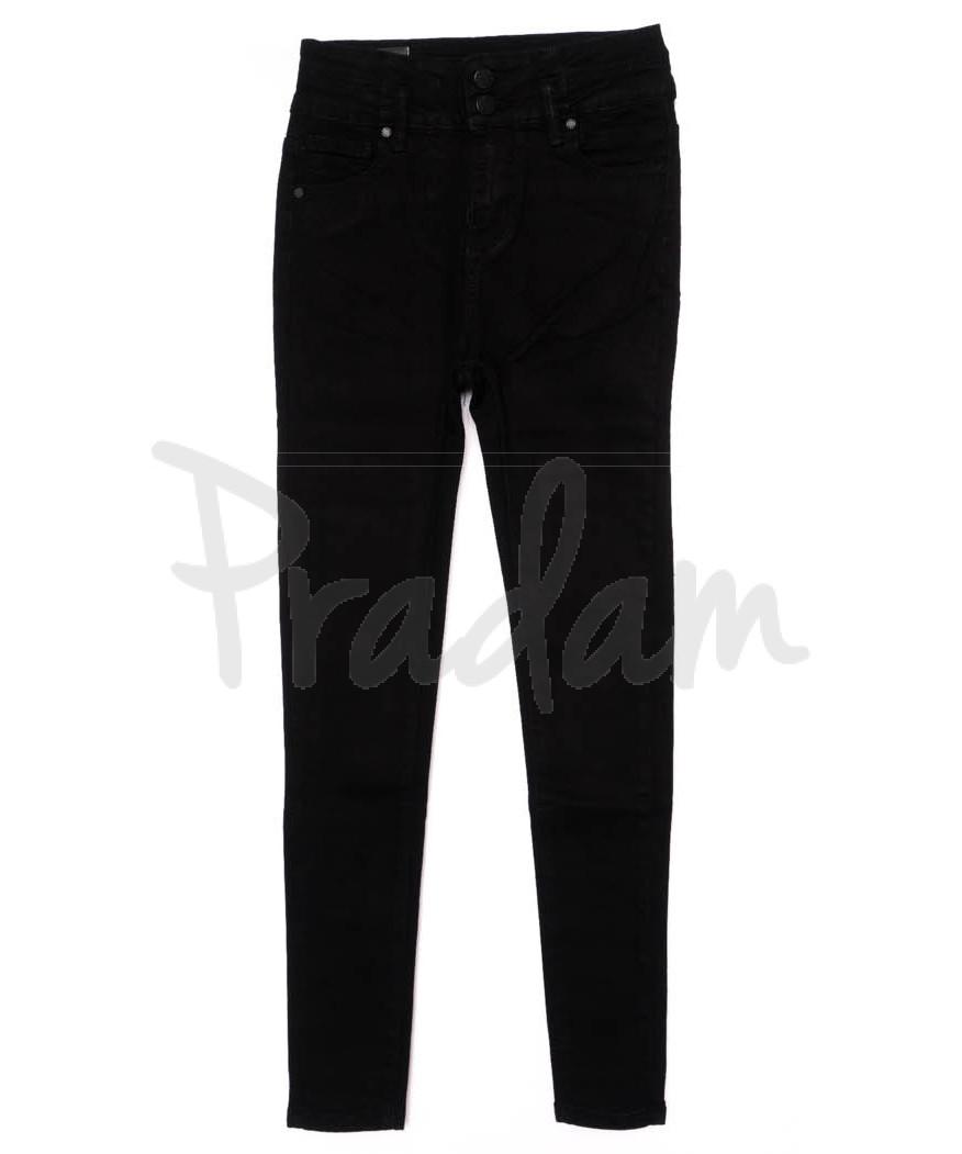 3362 New jeans американка черная осенняя стрейчевая (25-30, 6 ед.)