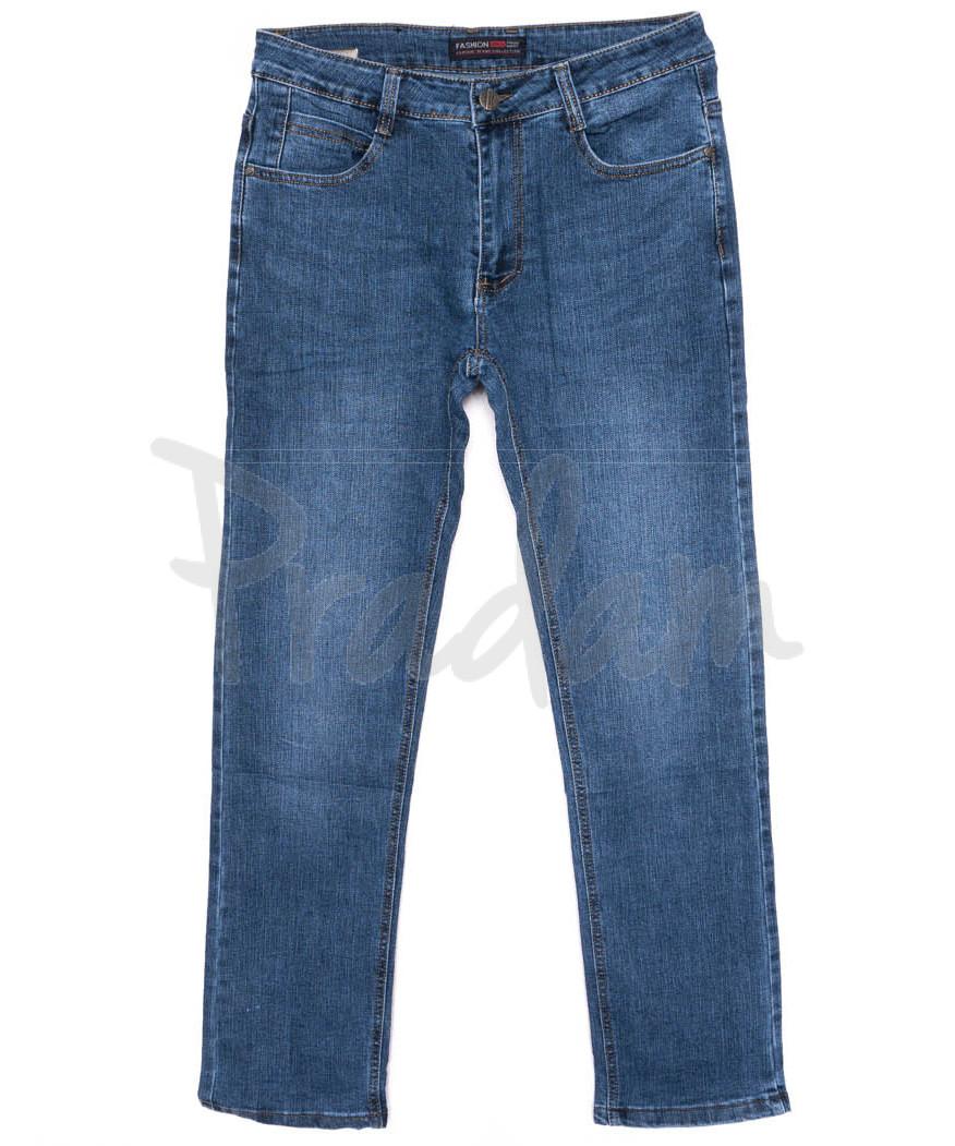 0001-А New Design джинсы мужские полубатальные синие осенние стрейчевые (32-42, 8 ед.)