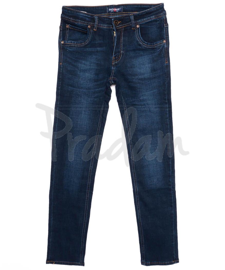 2021 DSOUAVIET джинсы мужские синие осенние стрейчевые (29-38, 8 ед.)