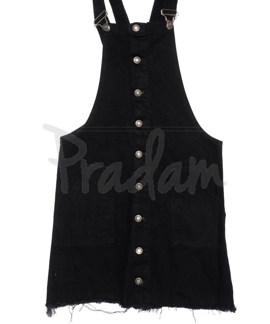 0024 XRAY сарафан джинсовый на кнопках черный осенний котоновый (34-40, евро, 6 ед.)