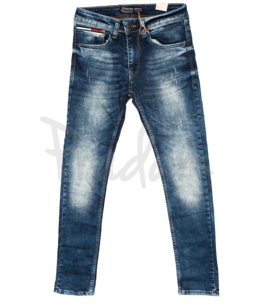 5987 Redcode джинсы мужские с царапками осенние стрейчевые (29-36, 8 ед.)