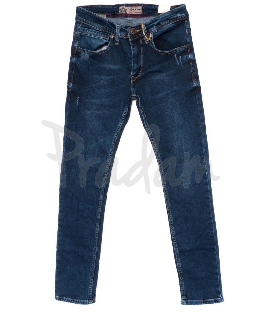 6163 Fashion Red джинсы мужские с царапками осенние стрейчевые (29-36, 8 ед.)
