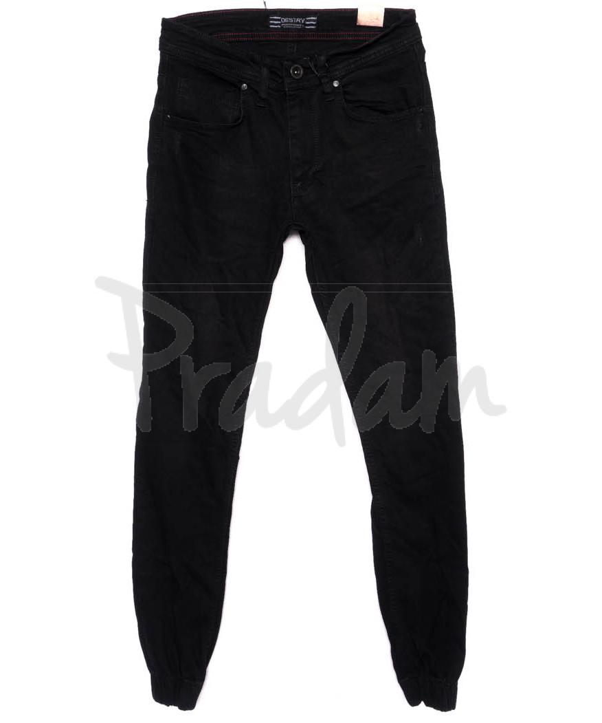 6195-R Destry джинсы мужские с царапками на резинке осенние стрейчевые (29-36, 8 ед.)